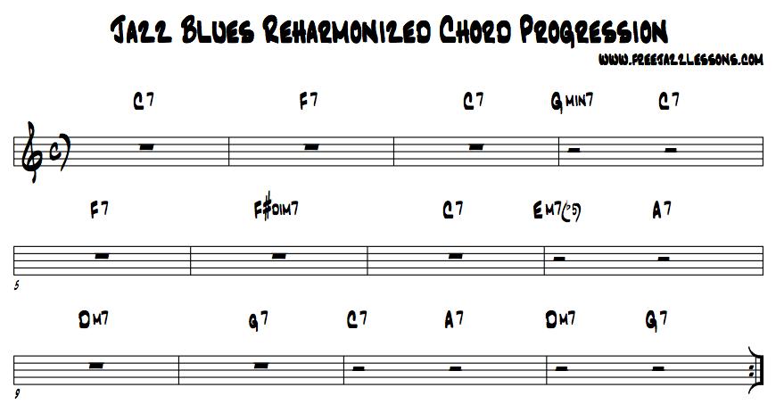 Jazz Chords Progression : jazz blues chord progression free jazz lesson video jam track ~ Russianpoet.info Haus und Dekorationen